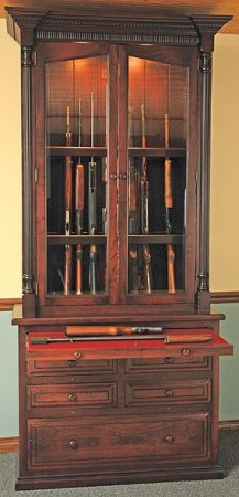 Locally Amish Crafted 12 Gun Cabinets And Gunsafes