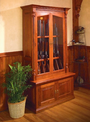 12 gun cabinets and solid wood gun safes