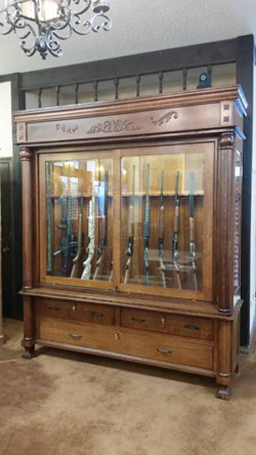 from solid hardwoods such as oak, hickory, cherry, walnut, maple, and  quarter sawn. Your gun cabinet with be made with your dimensions, styles,  and setups. - Custom Gun Cabinets And Gunsafes - Specialty Designs