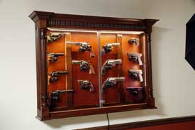 Our Newest Addition To Our Locally Amish Made Custom Gun Cabinet Selection  Is Our Custom Pistol Display Case. Our Local Amish Craftsmen Have Spent  Over A ...