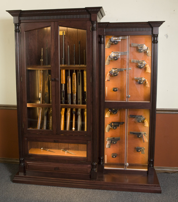 12 Gun And Knife Display Custom Cabinet